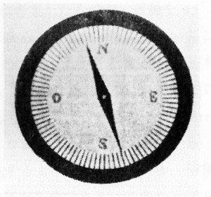 図5.金属ケースの中の羅針盤     (X線写真)