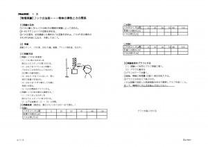 WEB物理 力学 授業プリント 浮沈子の原理と弾性体 生徒実験/弾性係数の測定